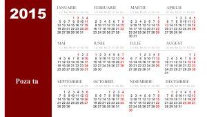 calendar personalizat folie magnetica