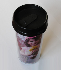Cana personalizata foto plastic