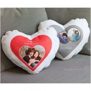 Perna personalizata alba inima