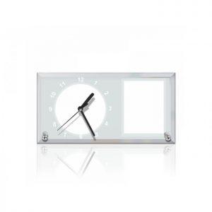 Ceas sticla personalizat dreptunghi 01