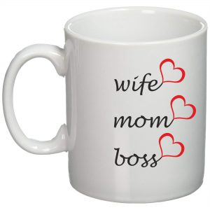 Cana personalizata Wife mom boss
