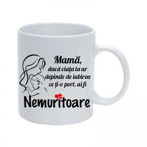 "Cana personalizata ""Mama nemuritoare"""