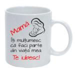 Cana personalizata Mama te iubesc