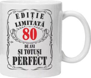 Cana personalizata Editie limitata 80 Ani