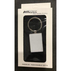 Breloc personalizat metalic dreptunghi M02
