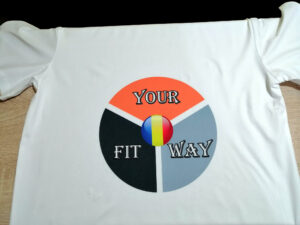 Tricou personalizat alb Your Fit Way